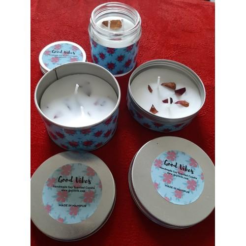 Aromatherapy Candles Combo  - 3 jars ( Mango)