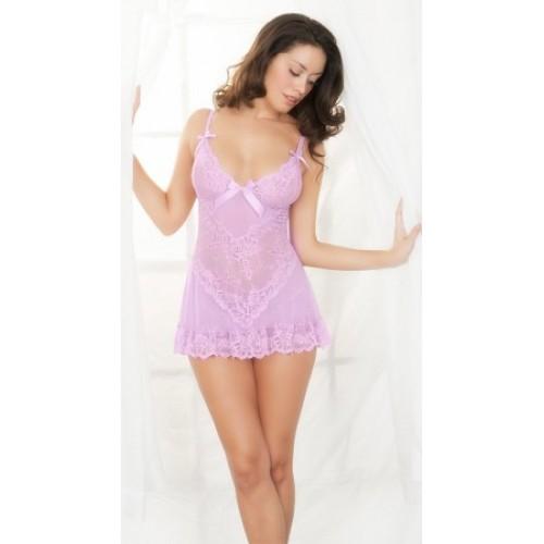 BABYDOLL- gojilove Sexy lavender babydoll