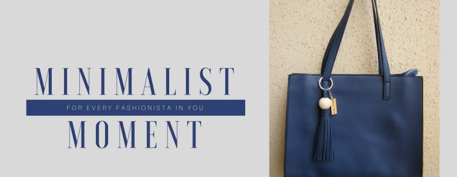 The minimalist moment bag