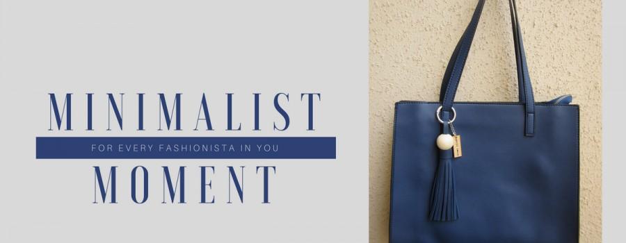 The minimalist moment bag