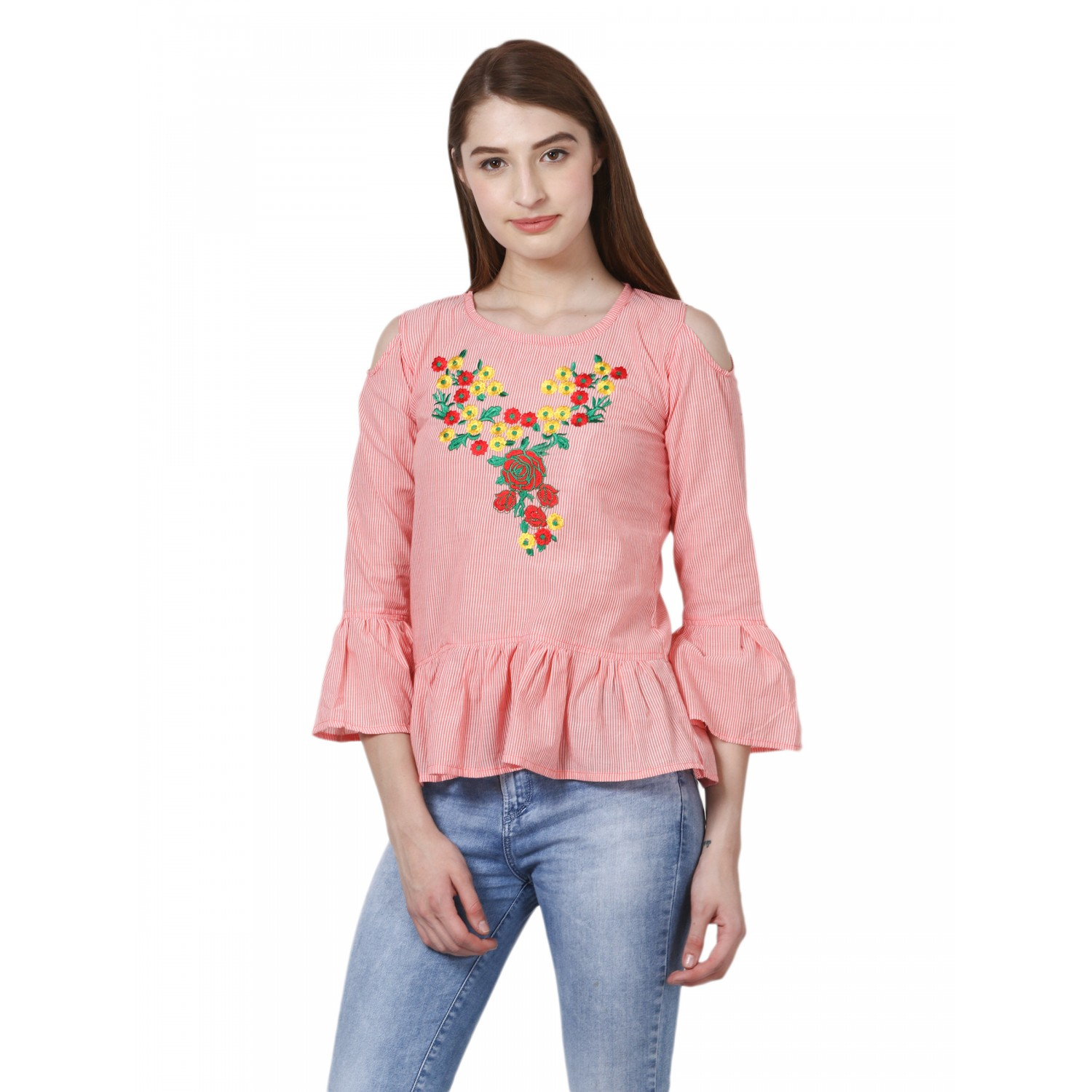 Tangy Love Top with floral emboidered