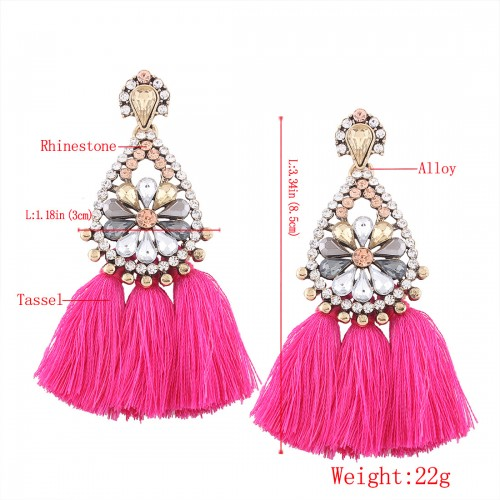 """Addicted to you"" Tassel earring"