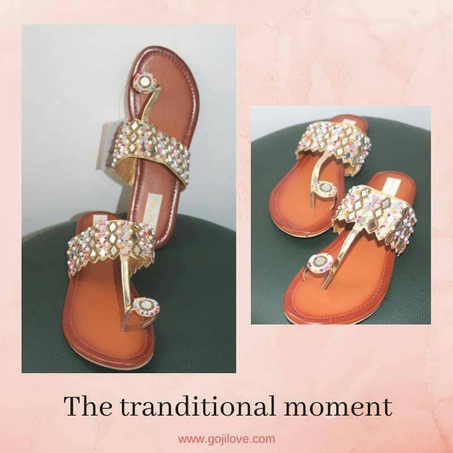 The tradition moment (flat) chappal