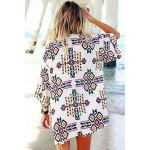 Gojilove Trendy Geometry Print Beach Kimono