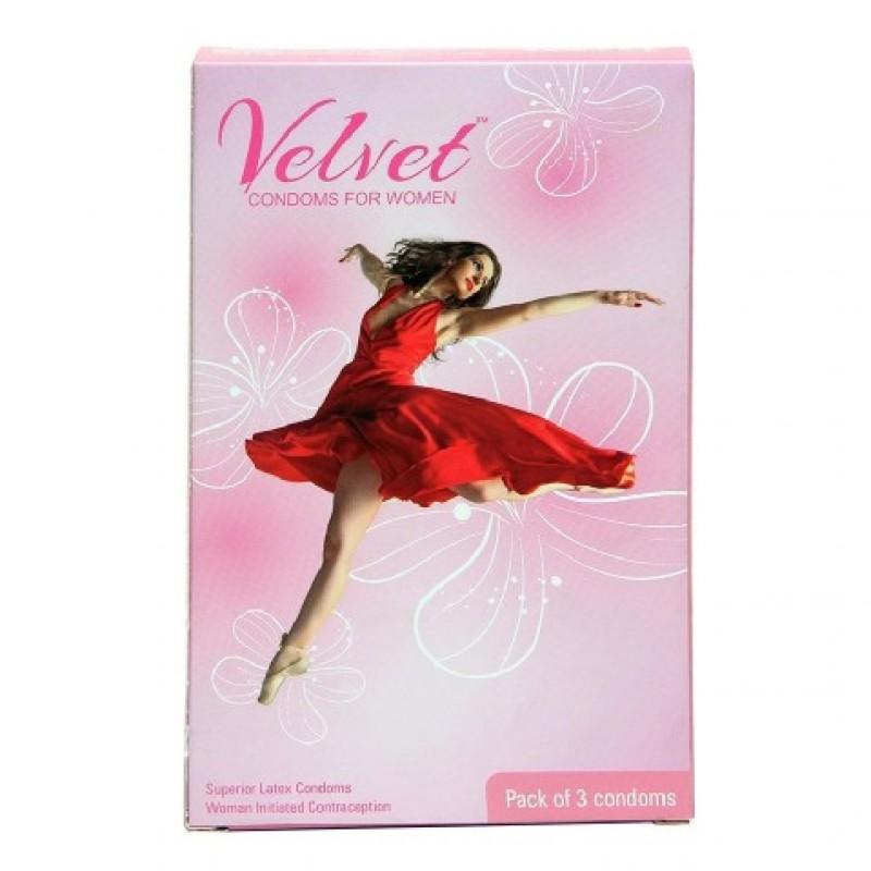 Female condoms- Velvet Female condoms ( 3 pack combo )