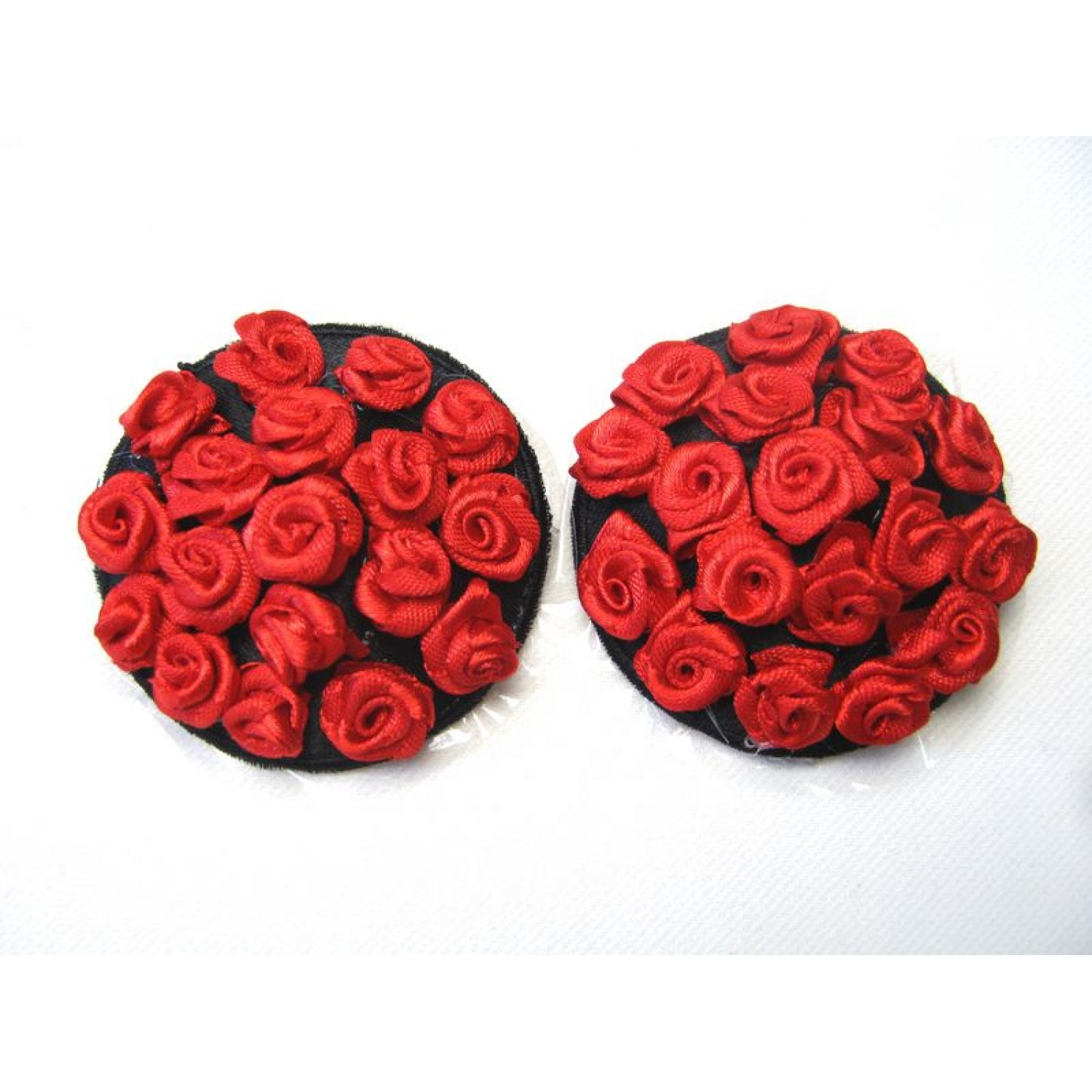 Gojilove red rose Pasties / Nipple covers (Several times uses)