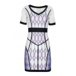 Gojilove Fashion Ivory Printed Dress-M/L