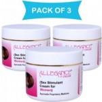 Sex stimulant cream : Allegance F Sex Stimulant Cream for women((Combo Pack of 3 bottles)