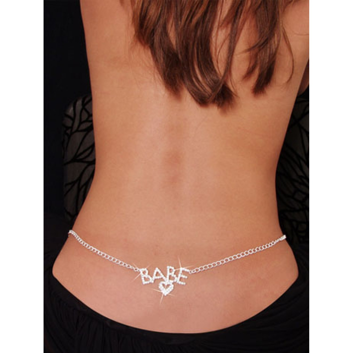 gojilove Babe Rhinestone Belly Chain and Lower Back