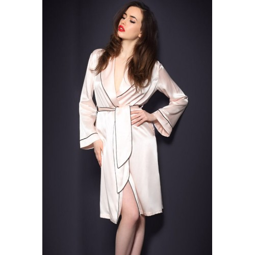 gojilove Pink Classic Gown Robe with Belt