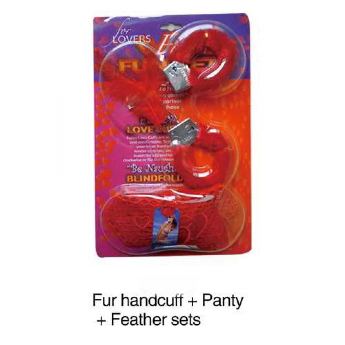 Gojilove Three piece handcuffs- Red