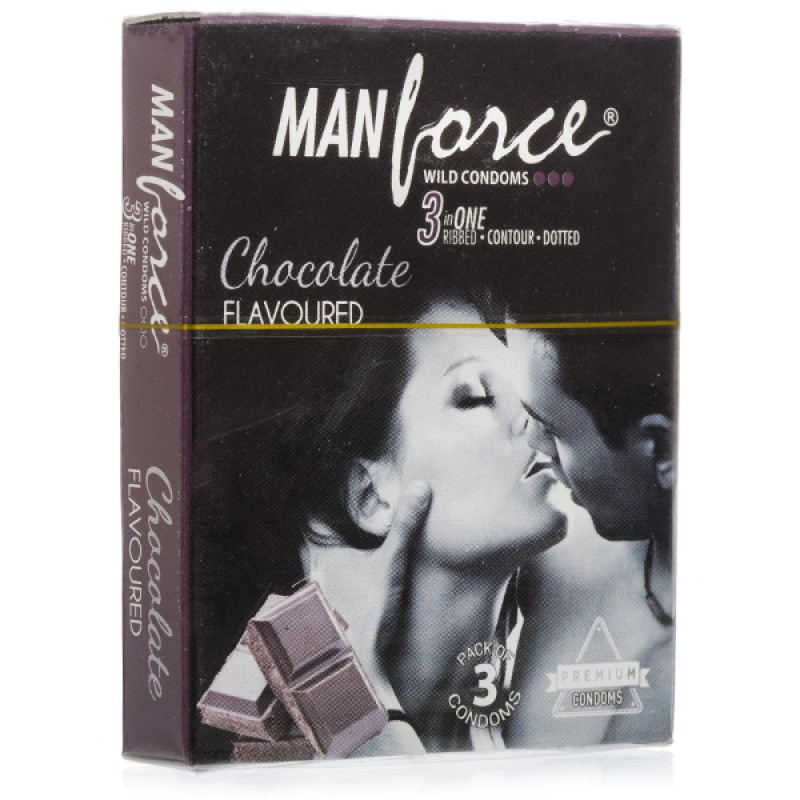 Manforce Chocolate Flavoured Condoms- 2* (Pack of 10)