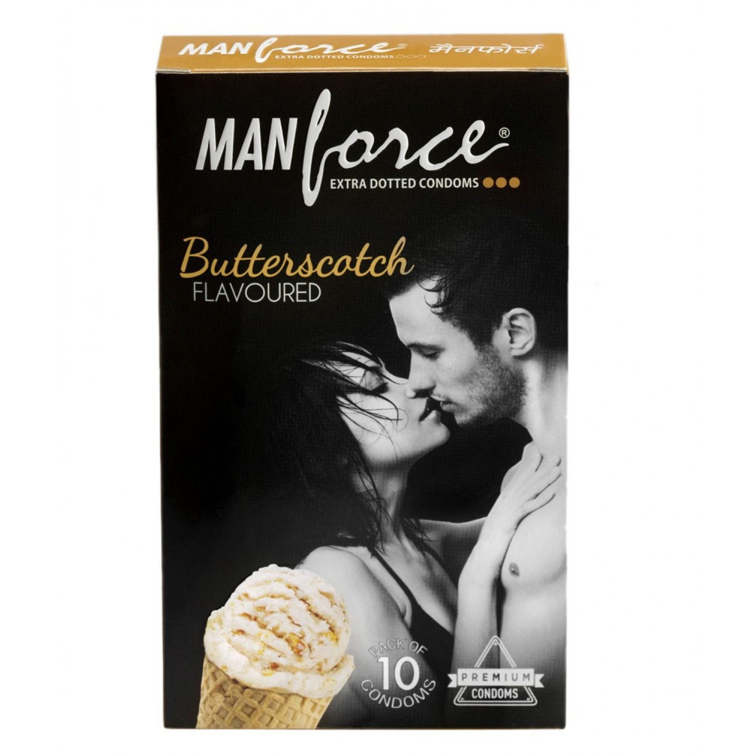 Manforce Butterscotch Flavoured Condoms- 2* (Pack of 10)