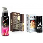 DELAY SPRAY - Combo of Kamasutra lubes (any flavour 100ml) , climax spray, stud