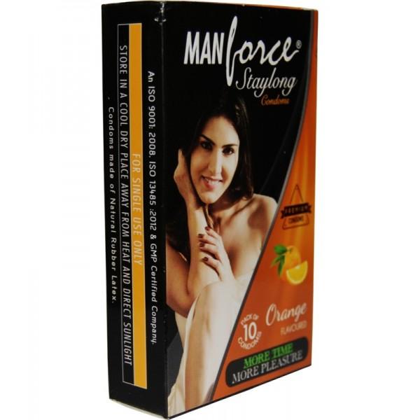 Manforce Orange Flavoured Condoms- 2 Pack of 10