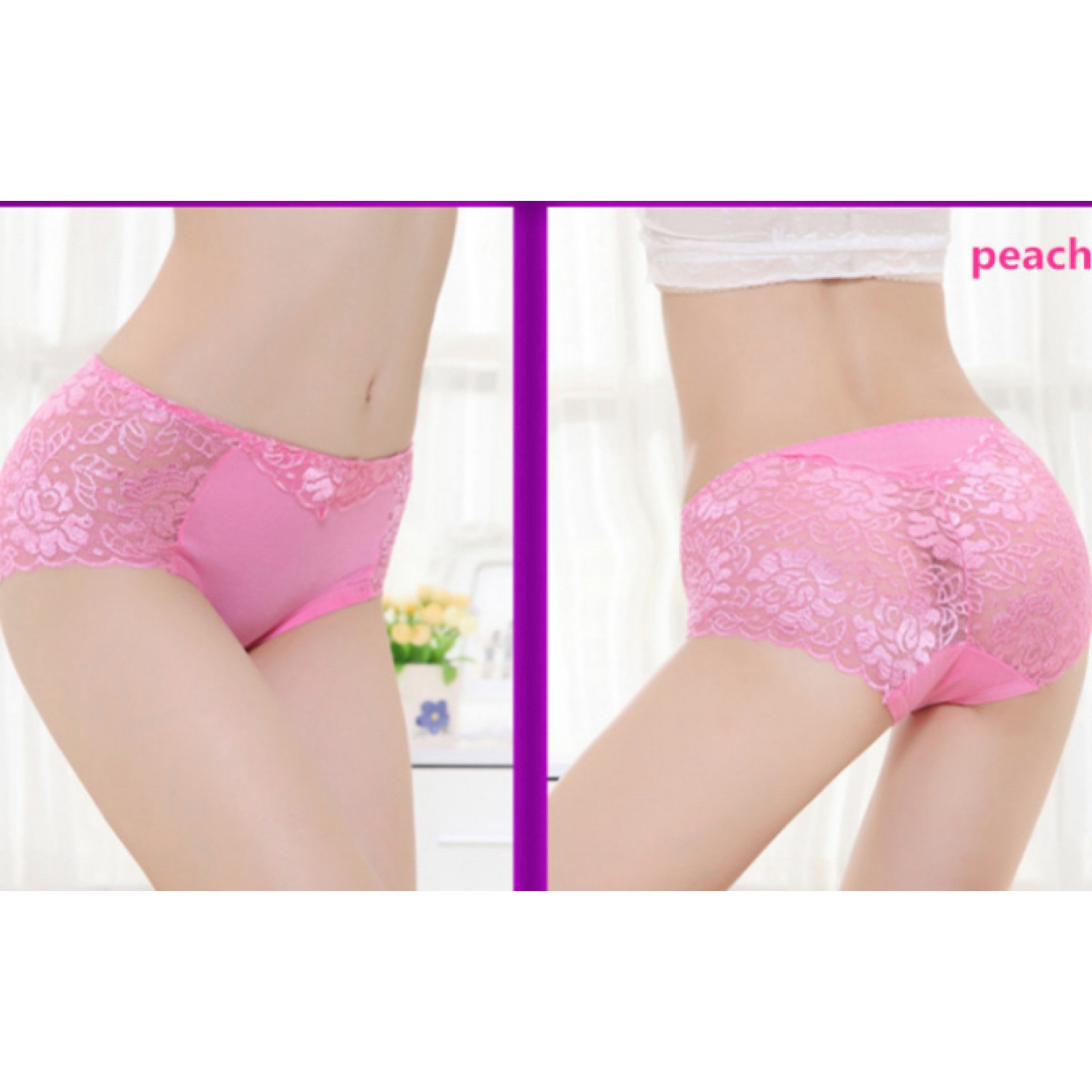 gojilove self lacy peach panty